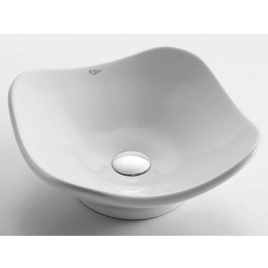 Kraus White Tulip Ceramic Sink