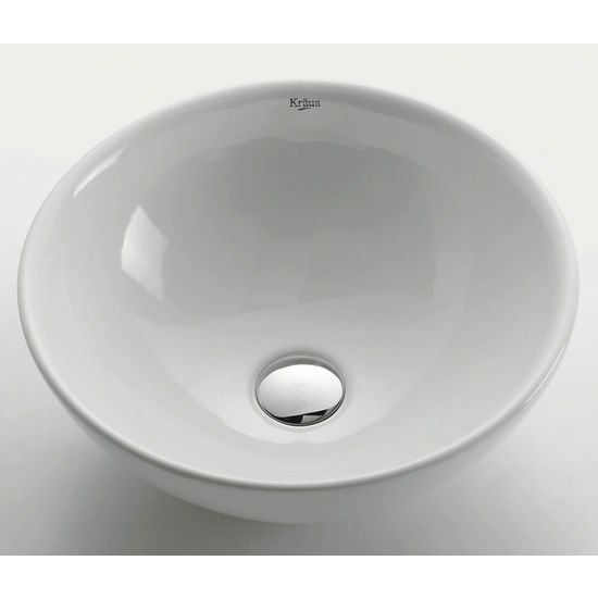 Kraus White Round Ceramic Sink