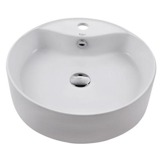 Kraus White Round Ceramic Sink
