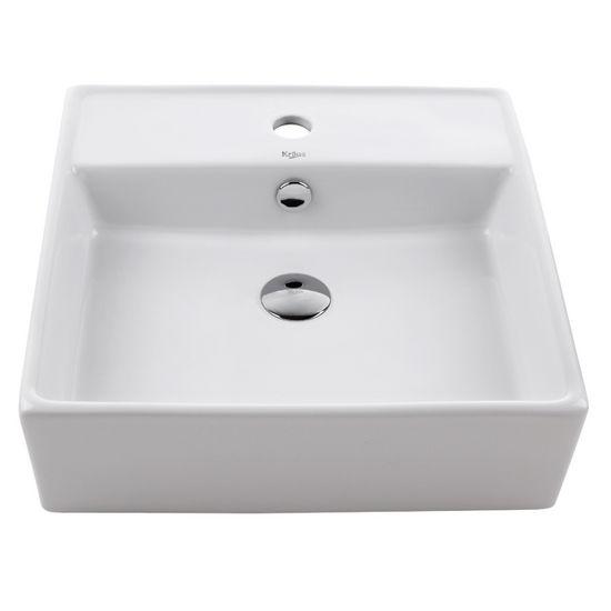 Kraus White Square Ceramic Sink