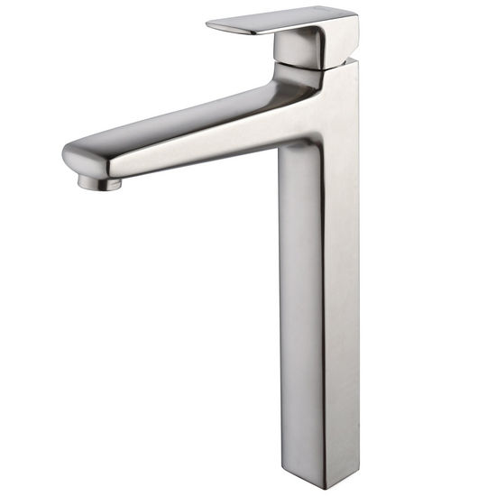 Kraus Virtus Brushed Nickel Single Lever Vessel Faucet