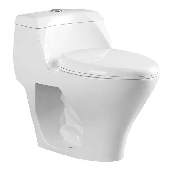 "Kingston Brass One-Piece Dual Flush Toilet, Soft Close Seat, Elongated Bowl, 1.1/1.6 GPF Capacity, 16-9/16""W x 26-15/16""D x 24-13/16""H"