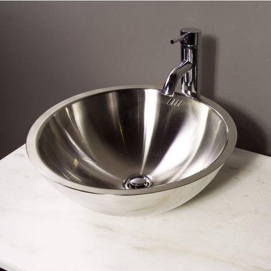 Bathroom Sinks Stainless Steel Vessel Bathroom Sink By