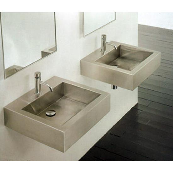 Bathroom Sinks - Stainless Steel Square Vessel Bathroom Sink By ...