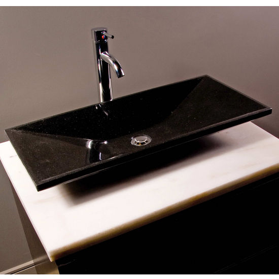 Cantrio Koncepts Granite Stone Vessel Bathroom Sink