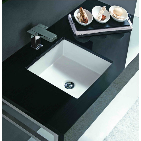 Cantrio Koncepts Undermount Vitreous China Square Sink