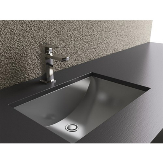 Bathroom Sinks Rectangular Shape With Curvilinear Basin Stainless Steel W