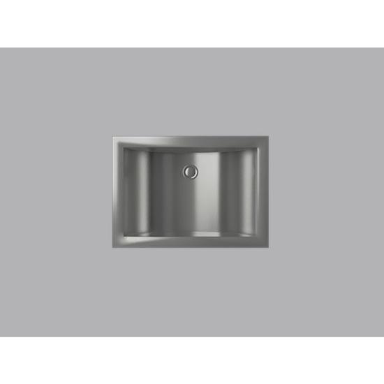 Bathroom Sinks Rectangular Shape With Curvilinear Basin