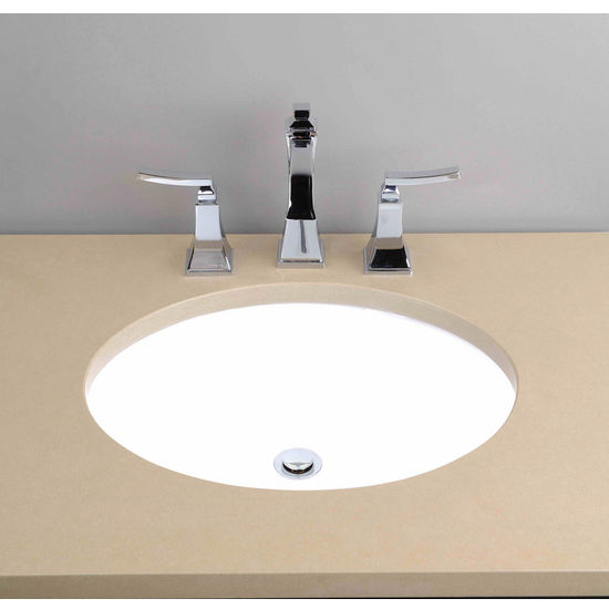 Cantrio Koncepts - Vitreous China Oval Bathroom Sink