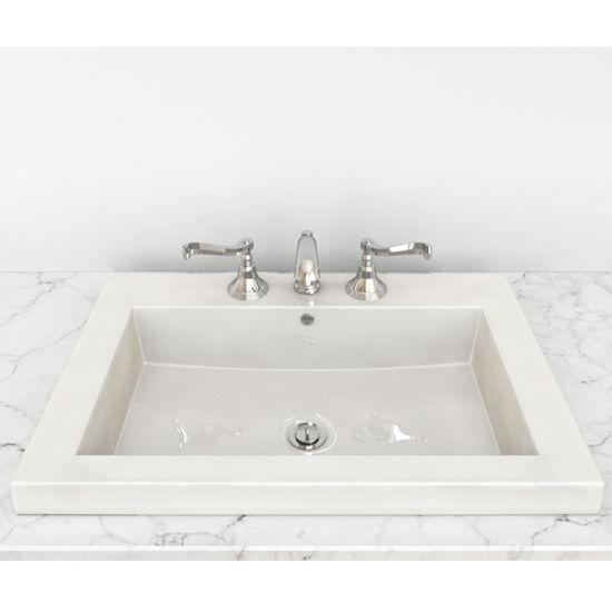 Cantrio Koncepts - Vitreous China Semi Recessed Bathroom Sink