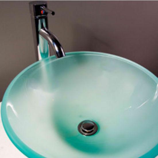 Cantrio Koncepts Glass Round Vessel Bathroom Sink