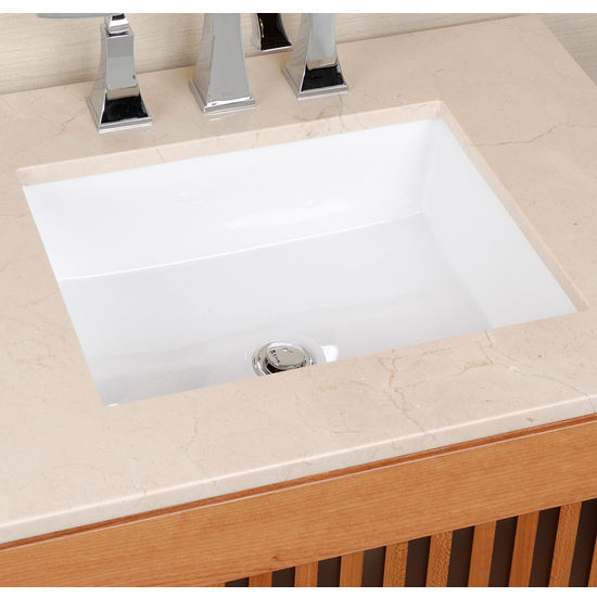 Cantrio Koncepts Undermount Vitreous China Rectangle Sink