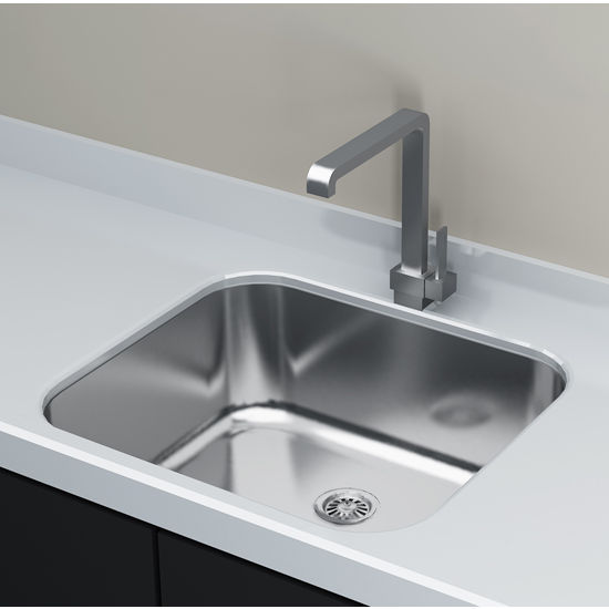 "Cantrio Koncepts Single Basin Under-Mount Sink, 18-Gauge 304-Series Stainless Steel (18/10), with Strainer Drain, 20""W x 18""D x 8""H"