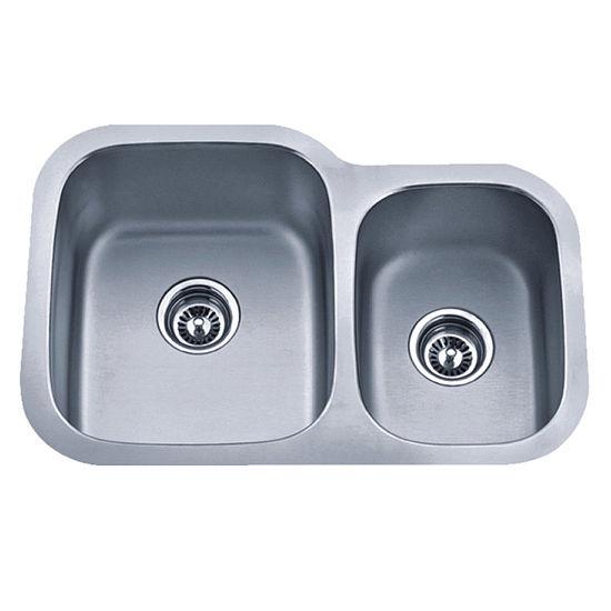 27 Undermount Sink : Cantrio Koncepts Double Basin Undermount Kitchen Sink, 27-1/8W, Mad...