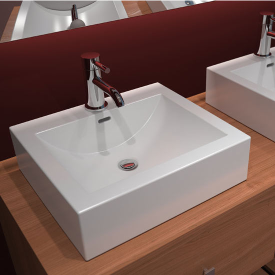 Cantrio Koncepts Cast Polymer Vessel Bathroom Sink, Featuring a ...