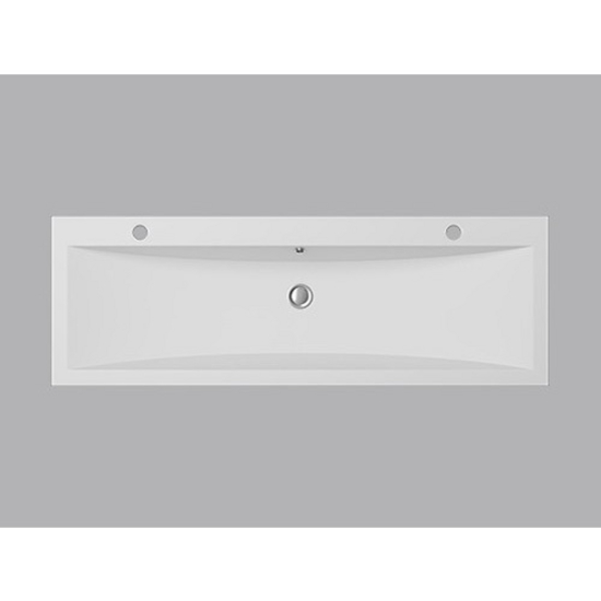 View Larger Image. Cantrio Koncepts Cast Polymer Vessel Double Countertop Bathroom