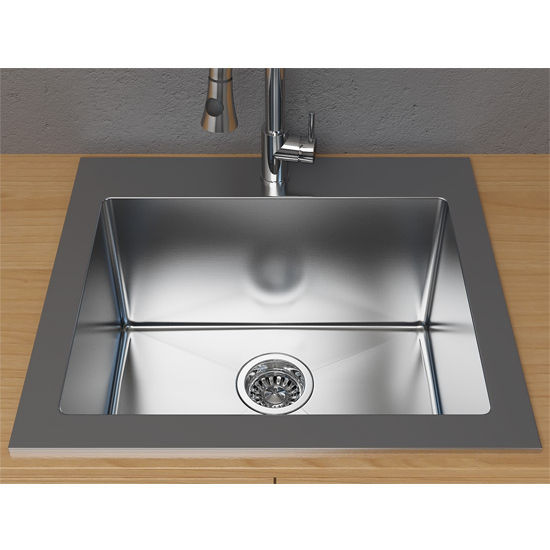 Cantrio Koncepts 25 Single Basin Topmount Laundry Utility Sink