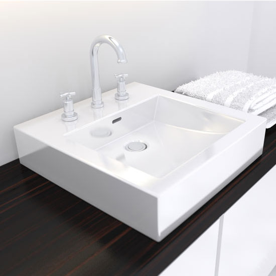 Cantrio Koncepts Vitreous China Countertop Bathroom Sink