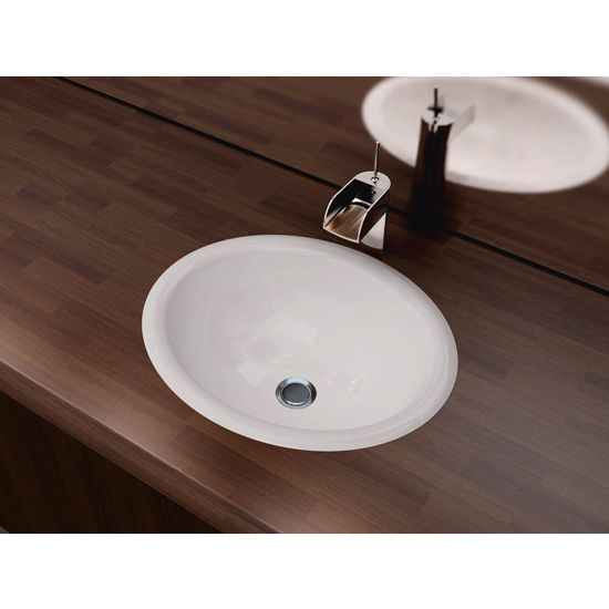 "Cantrio Koncepts Vitreous China Drop-In Sink with Overflow, 17-1/2""W x 15""D x 7-1/2""H"