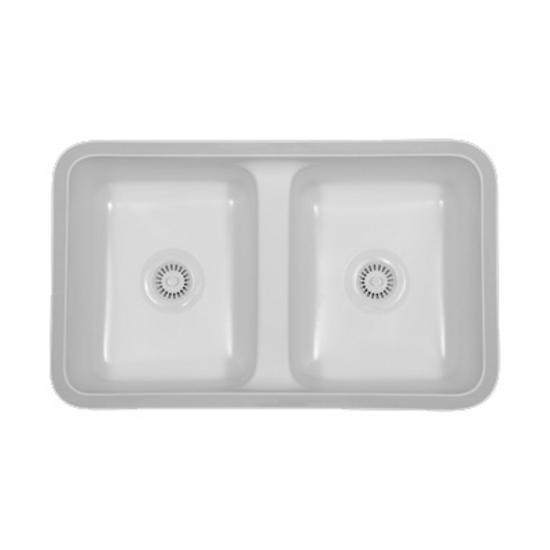 Karran Sinks : Kitchen Sink - Newport Double Equal Bowl Under Mount Sink by Karran ...