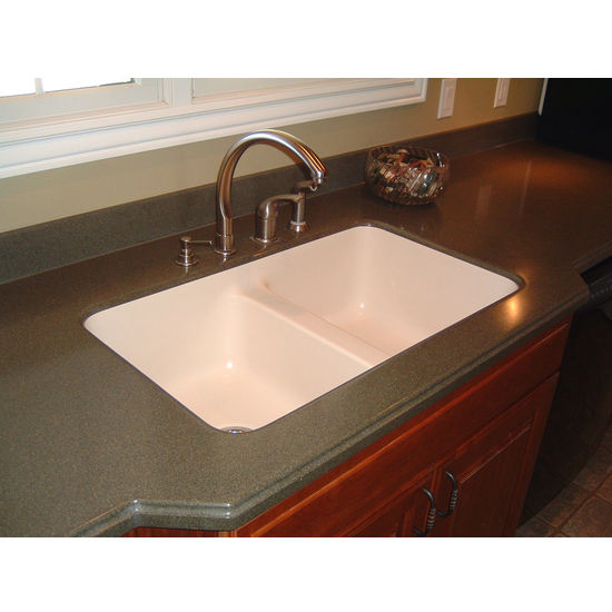 Kitchen Sink - Newport Double Equal Bowl Under Mount Sink by Karran ...