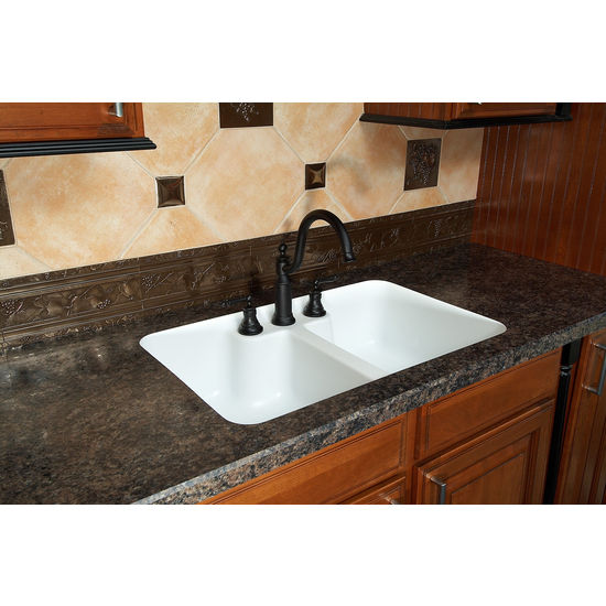 Integrated Kitchen Sink : Kitchen Sinks - Hampton Double Equal Bowl Under Mount Sink w ...