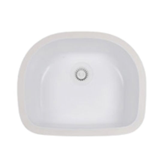 Karran Benton D-Shaped Single Bowl Under Mount Sink