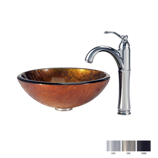 Triton Glass Vessel Sink/Riviera Faucet Multiple Finishes