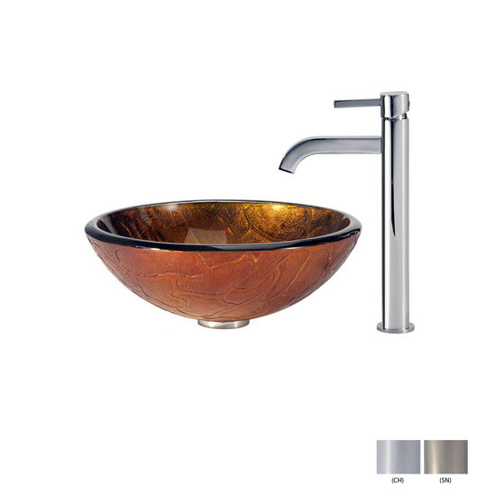 Triton Glass Vessel Sink/Ramus Faucet Multiple Finishes