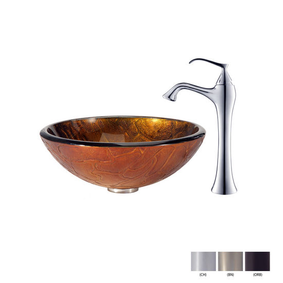 Triton Glass Vessel Sink/Ventus Faucet Swatches