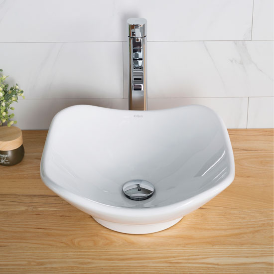 White Tulip Ceramic Sink