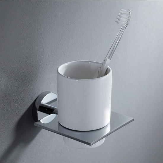 Kraus Imperium Bathroom Wall Mounted Ceramic Tumbler Holder