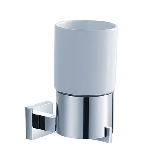 Kraus Aura Bathroom Wall Mounted Ceramic Tumbler Holder