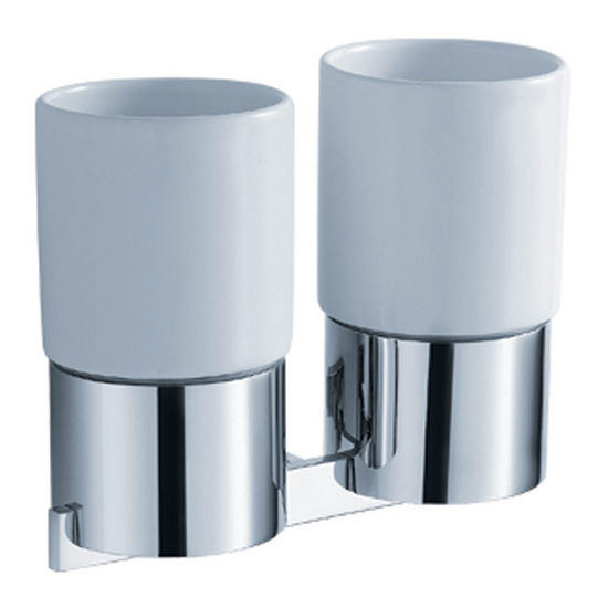 Kraus Aura Bathroom Wall Mounted Double Ceramic Tumbler Holder