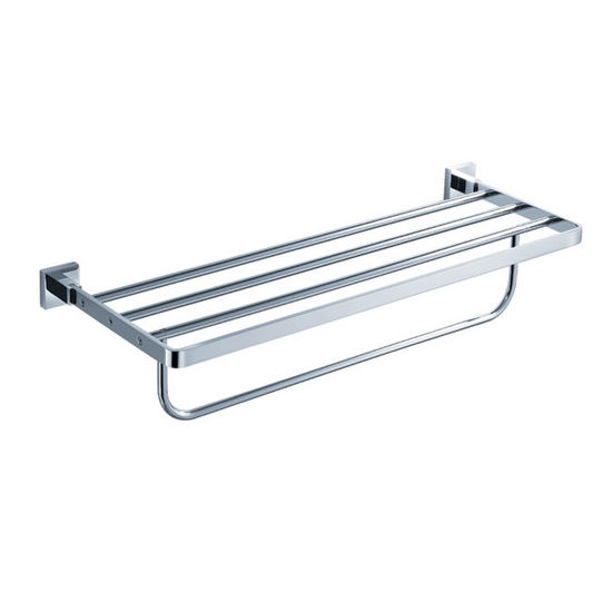 Kraus Aura Bathroom Bath Towel Rack with Towel Bar