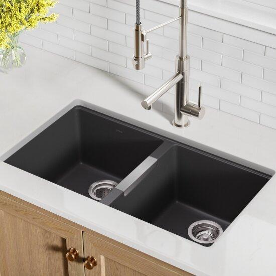 Kitchen Sinks Kgu 434b 32 1 2 Undermount 50 50 Double