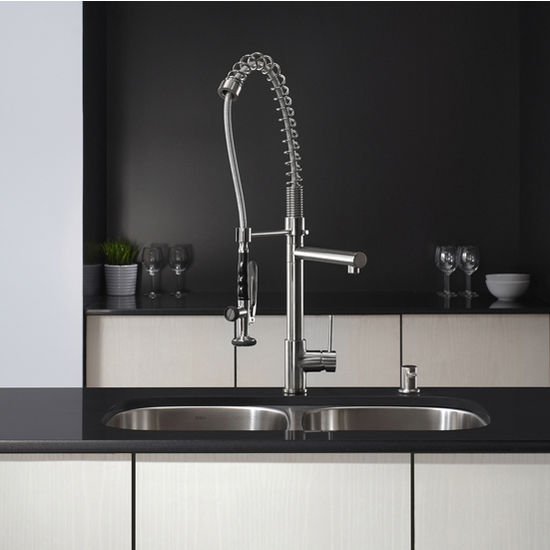 Kraus 2 Function Commercial Style Pre Rinse Kitchen Faucet