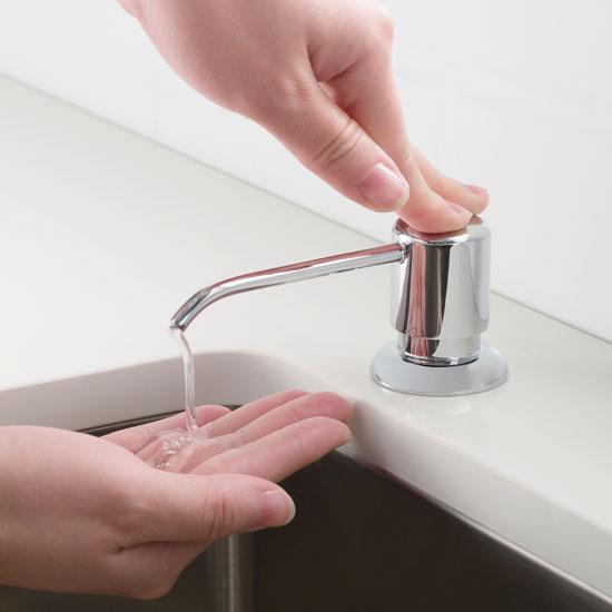 Chrome Soap Dispenser Lifestyle View
