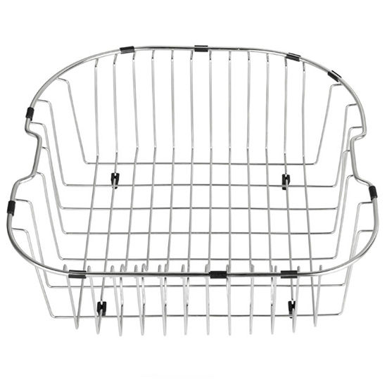 "Kraus Stainless Steel Rinse Basket for Kitchen Sink (17 3/4"" W x 17 1/4"" L x 7"" D), Stainless Steel"