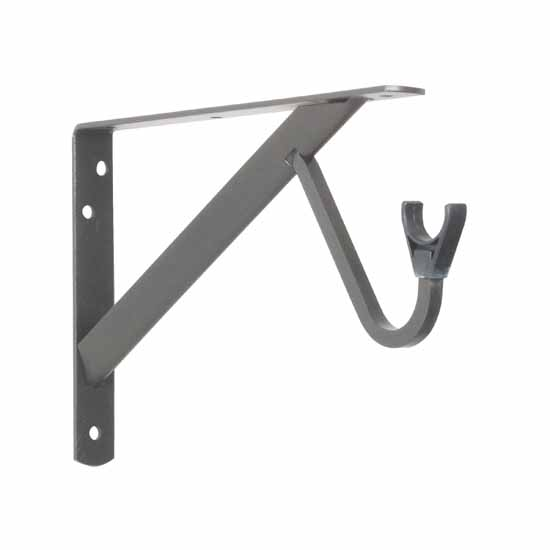 Knape & Vogt 12'' Heavy Duty Fixed Rod and Shelf Brackets, Bronze