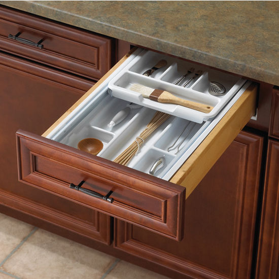 kitchen cabinet inserts organizers knape amp vogt tiered kitchen cutlery drawer insert 18961