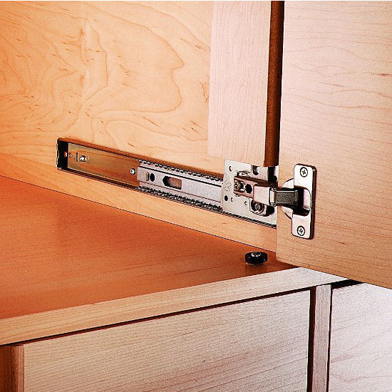 View Larger Image & Knape u0026 Vogt KV-8080 3/4 Extension Side Mounted Pivot Door Slide ...