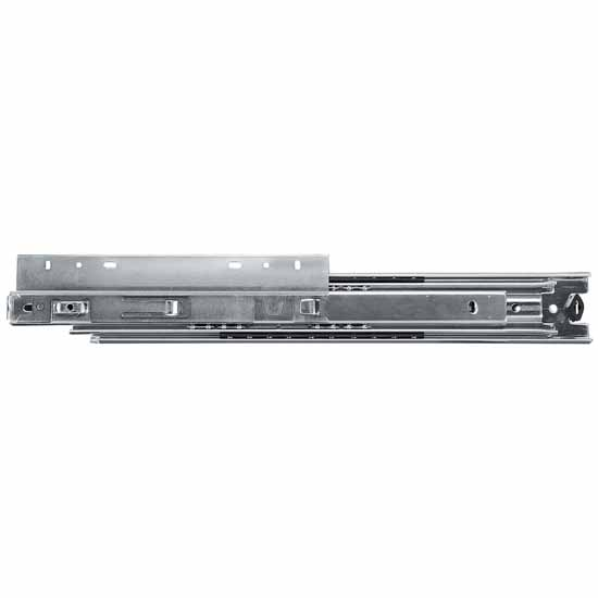 Knape & Vogt Over-Travel Side Mounted 200 lb Ball Bearing Drawer Slide (Pair) in Zinc Finish