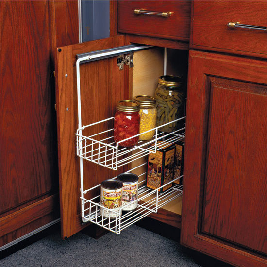 Mail Order Kitchen Cabinets: Base Cabinet Pull-Out Organizers For Baskets With Two
