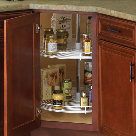 2-Shelf Full-Round Wire Lazy Susan