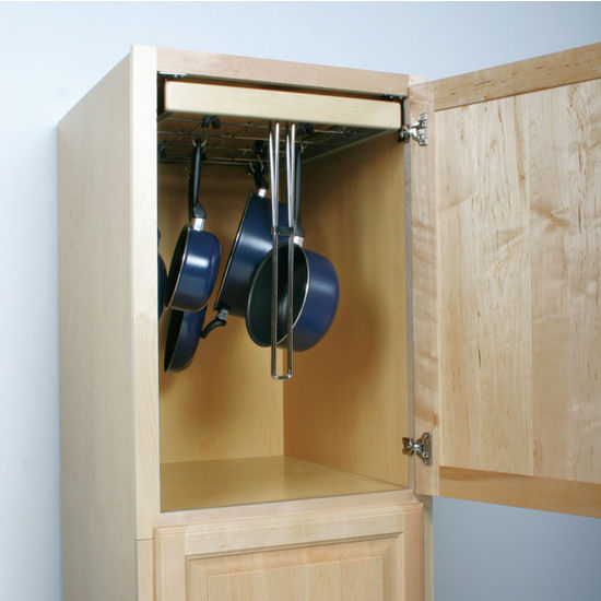 Pull Out Sliding Metal Kitchen Pot Cabinet Storage: Knape & Vogt Pot & Pan Pantry Pull-Out Cabinet Organizer
