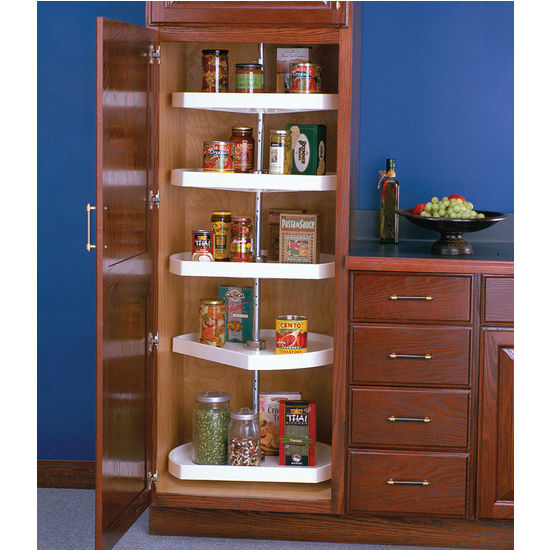 polymer dshaped lazy susan for tall pantry cabinet