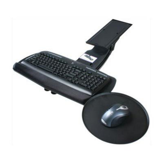 "Knape & Vogt - Keyboard Tray w/Round Mouse Tray, 20"" W x 10 2/5"" D"