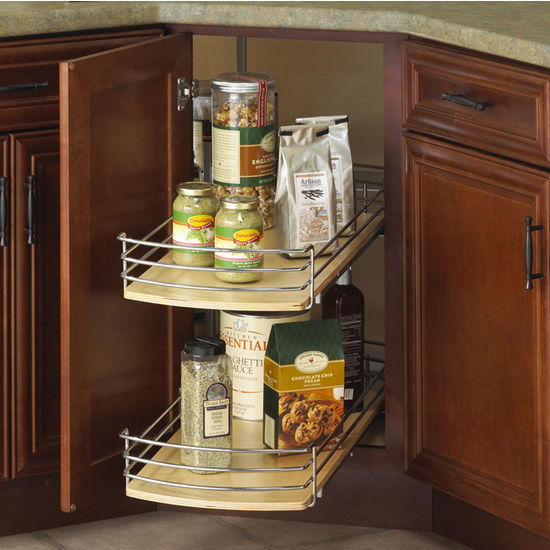 Full-Round Wood Lazy Susan Drawer System