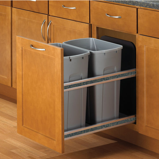 kitchen trash bin cabinet knape amp vogt soft undermount waste 22078
